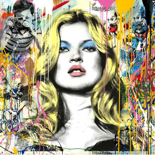 MR BRAINWASH - Pintura - Kate Moss
