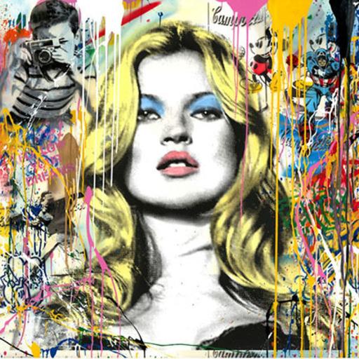 MR BRAINWASH - Painting - Kate Moss