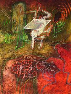 Roberto MATTA - Estampe-Multiple - Damne par l'arc-en-ciel - plate 5