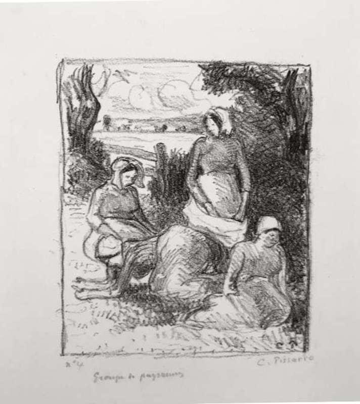 Camille PISSARRO - Print-Multiple - Group de paysans