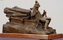 Bruno ZACH - Sculpture-Volume - Sleigh -logger