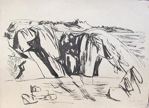 Erich HARTMANN - Disegno Acquarello - #19868: Norwegen.