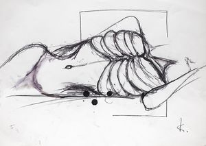 Guillaume KALT - Drawing-Watercolor - Lay down    (Cat N° 6166)