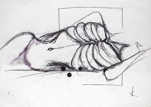 Guillaume KALT - Dibujo Acuarela - Lay down    (Cat N° 6166)