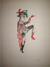 Leonor FINI - Grabado - Le chat botté,1973.