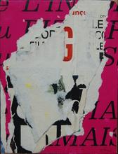 Jacques VILLEGLÉ - Painting - METRO MABILLON