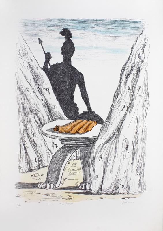 乔治•德•基里科 - 版画 - Il guardiano delle Termopili, 1970