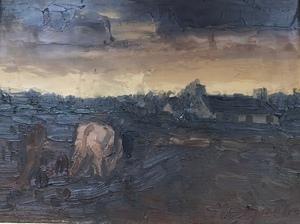 Hubert MALFAIT - Pintura - landschap