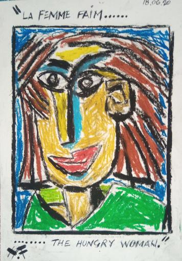 Harry BARTLETT FENNEY - Drawing-Watercolor - femme faim