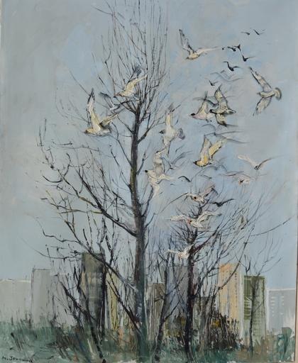 Michel JOUENNE - Peinture - LES GRANDS OISEAUX BLANC