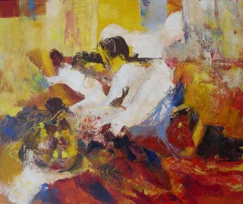 Josette DUBOST - Pittura - Les Joyeuses