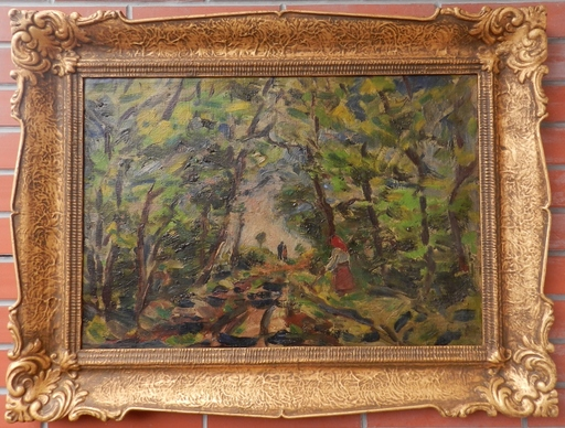 Bela ERDELYI - Gemälde - In the Forest(Park)
