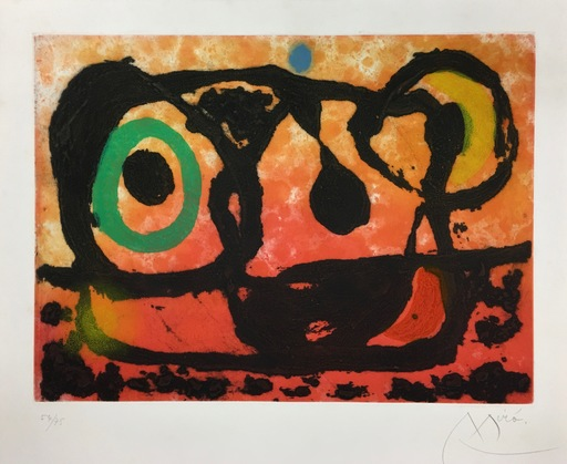 Joan MIRO - Stampa-Multiplo - Tete au soleil couchant
