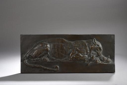 Paul JOUVE - Escultura - Tigre, dit aussi Tigre mangeant un lièvre