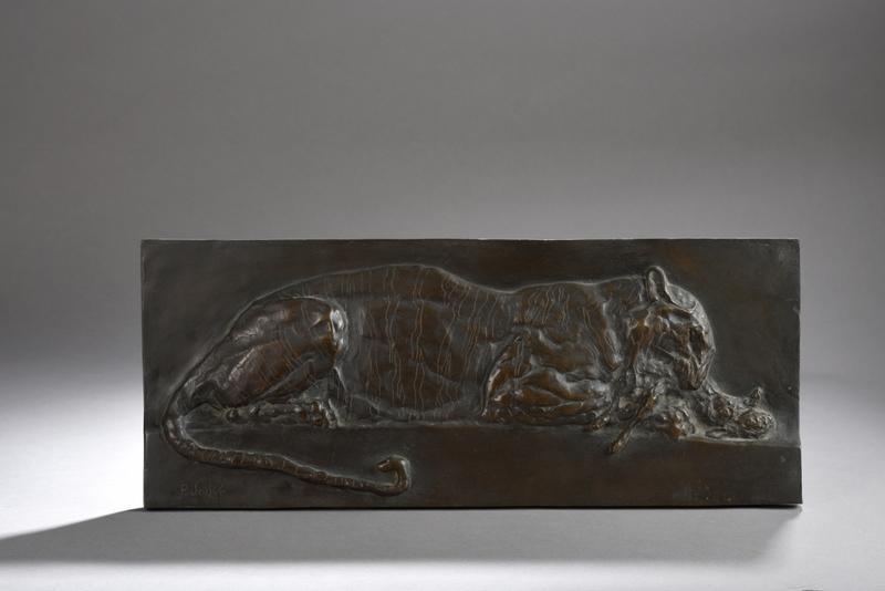 Paul JOUVE - Sculpture-Volume - Tigre, dit aussi Tigre mangeant un lièvre