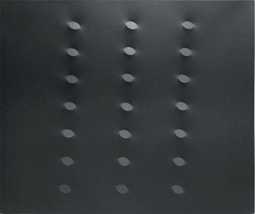 Turi SIMETI - Pittura - 21 ovali neri