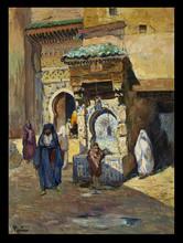 Henri Jean PONTOY - Painting - La Fontaine Nejjarine, Fez
