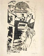 Moïse KISLING - Grabado - The Water Carrier / La Porteuse d'Eau