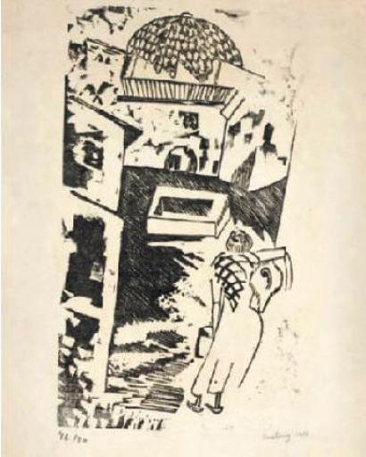 Moïse KISLING - Print-Multiple - The Water Carrier / La Porteuse d'Eau