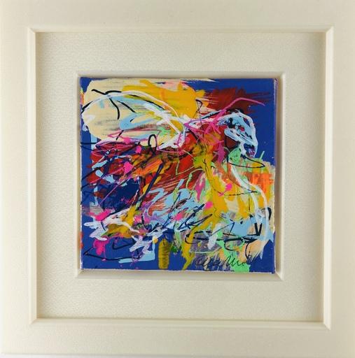 Nicole LEIDENFROST - Gemälde - Falke in bunt