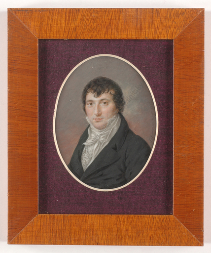 "Leo LEHMANN - Miniatur - ""Portrait of a gentleman"", miniature on ivory, 1816"