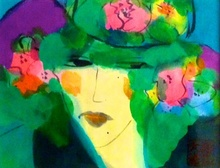 TING Walasse - Painting - Blossom lady
