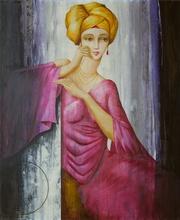 Philippe AUGÉ - Pintura - Le turban jaune