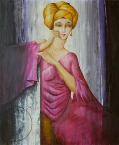 Philippe AUGÉ - 绘画 - Le turban jaune