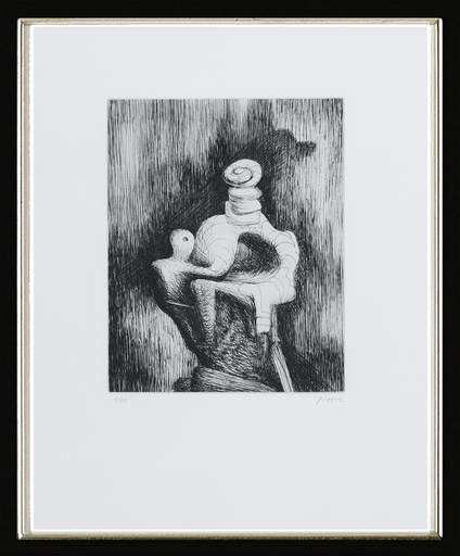 Henry MOORE - Print-Multiple - Mother and Child