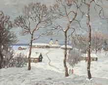 Konstantin Ivanovich GORBATOV (1876-1945) - Winter Skies