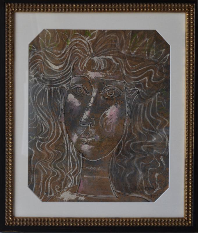 Byron George BROWNE - Peinture - Portrait