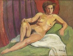 François DESNOYER - Pintura - Desnudo