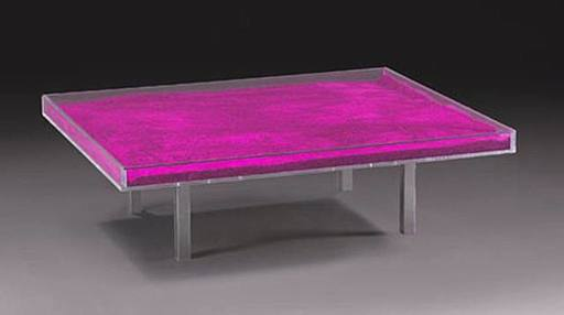 Yves KLEIN - Sculpture-Volume - Table rose