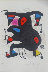 Joan MIRO - Stampa-Multiplo - Lettre dite  du voyant