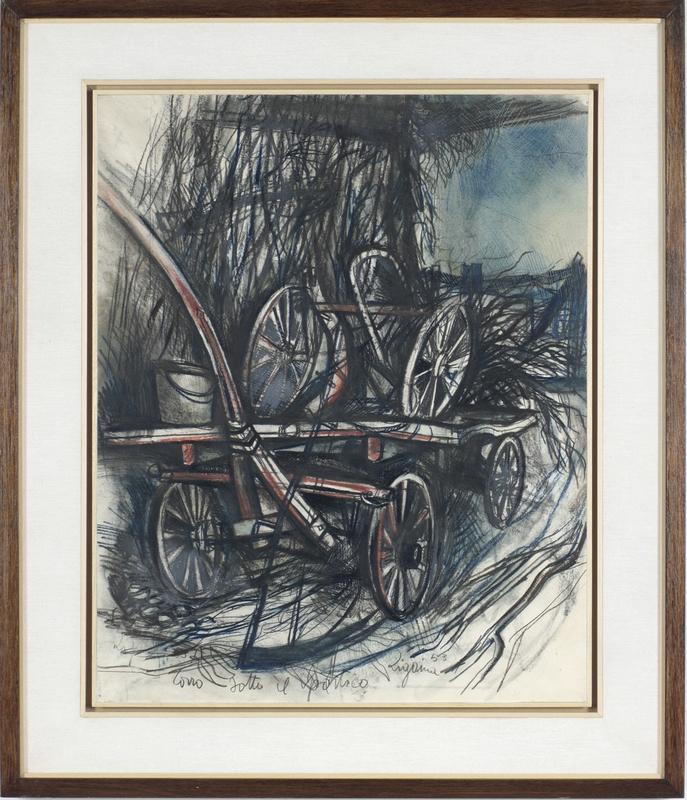 Giuseppe ZIGAINA - Pintura - Sotto il portico