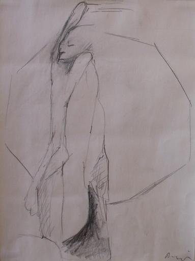 Siegfried ANZINGER - Dibujo Acuarela - Figur