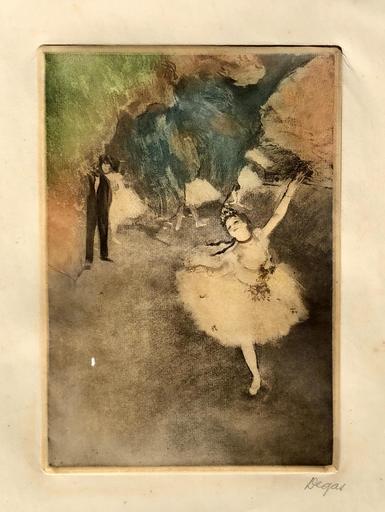 Edgar DEGAS - Grabado - danseuse