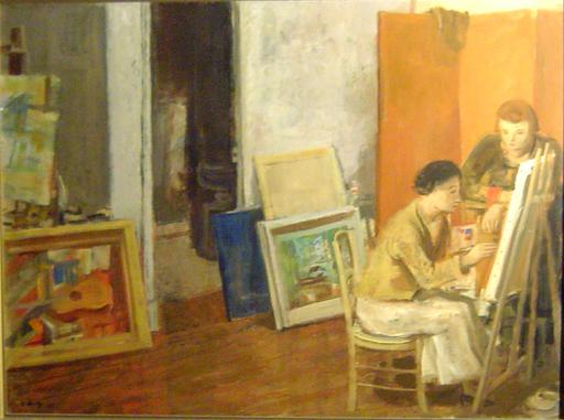 Adrien HOLY - Gemälde - L'atelier