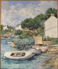 Louis GARIN - Painting - Maisons à l'Ile aux Moines