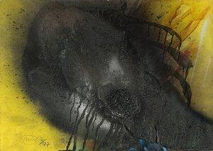 Otto PIENE - Painting - DARK ROMANCE