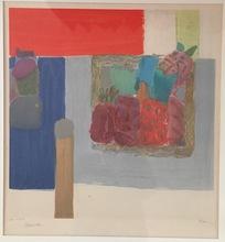 Pierre LESIEUR - Dibujo Acuarela - Composition abstraite