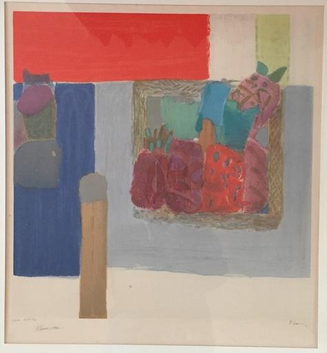 Pierre LESIEUR - Dessin-Aquarelle - Composition abstraite