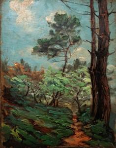 Pierre MOLINIER - Peinture - pins Landais circa 1925/30