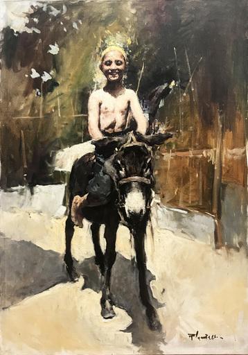 Romualdo LOCATELLI - Peinture - Asinello