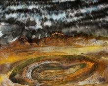 西德尼·罗伯特·诺兰 - 绘画 - Storm over Pilbara V