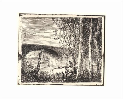 Charles François DAUBIGNY - Stampa Multiplo - Le Pont