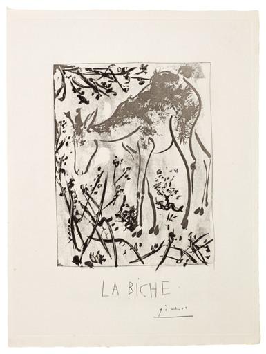 巴勃罗•毕加索 - 版画 - La Biche