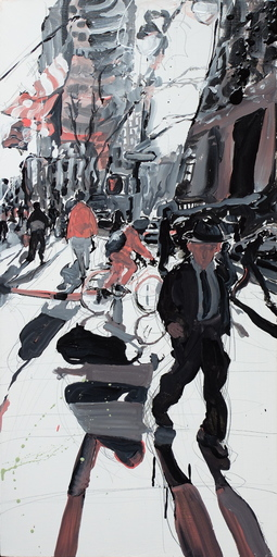 Tom CHRISTOPHER - Peinture - New York street