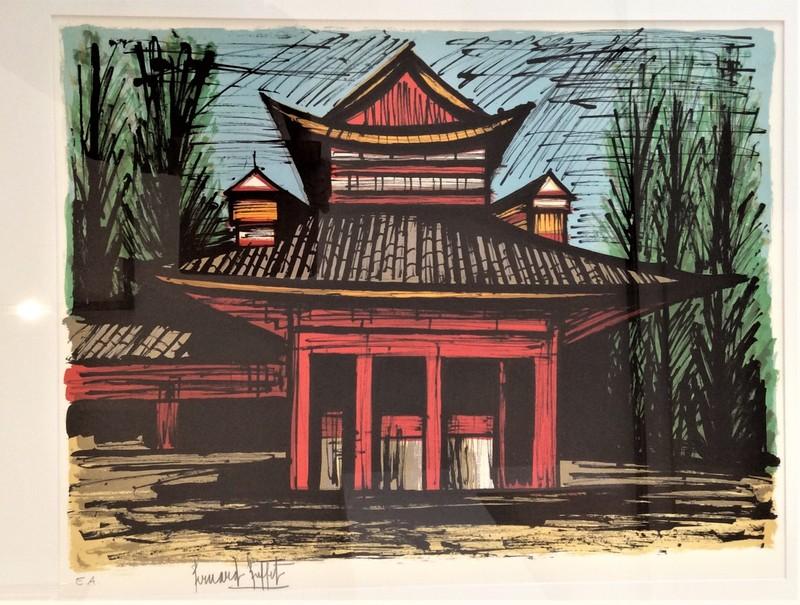 Bernard BUFFET - Print-Multiple - Le petit temple Heian, Kyoto