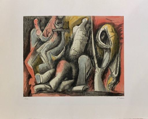 Henry MOORE - Grabado - Four Ideas for Sculpture